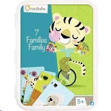 BARAJA MANDARINE 7 FAMILIAS ANIMALES 5+