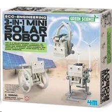 GREEN SCIENCE MINI ROBOT SOLAR 3 EN 1