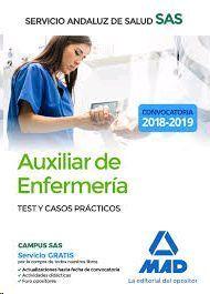 AUXILIAR DE ENFERMERIA SAS TEST Y CASOS PRACTICOS