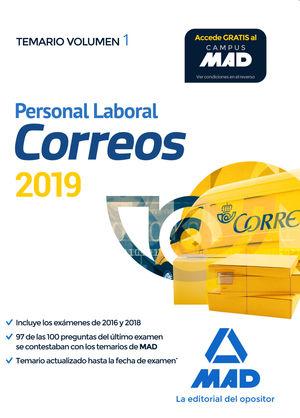 PERSONAL LABORAL CORREOS Y TELEGRAFOS 2019