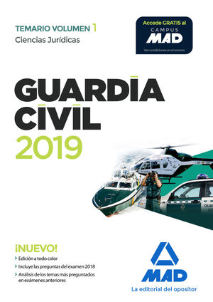 GUARDIA CIVIL. CIENCIAS JURIDICAS TEMARIO VOLUMEN 1