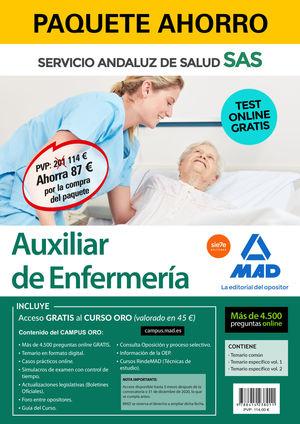 PAQUETE AHORRO Y TEST ONLINE GRATIS AUXILIAR DE ENFERMERÍA DEL SERVICIO ANDALUZ