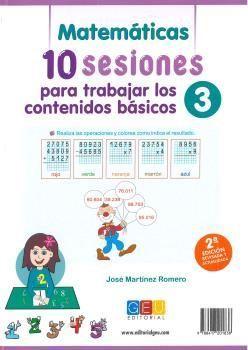 10 SESIONES PARA TRABAJAR CONTENIDOS BASICOS 3 2ªE