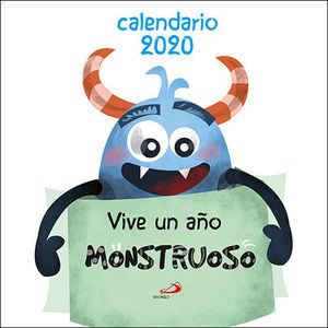 CALENDARIO DE PARED VIVE UN AÑO MONSTRUOSO 2020