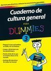 CUADERNO CULTURA GENERAL 3 PARA DUMMIES
