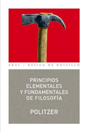 PRINCIPIOS ELEMENTALES Y FUNDAMENTALES DE FILOSOFÍA