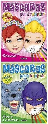 MÁSCARAS PARA COLOREAR (2 TÍTULOS)