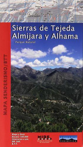SIERRAS DE TEJEDA ALMIJARA Y ALHAMA MAPA SENDERISM