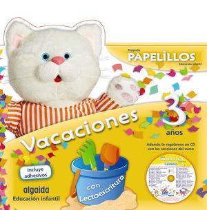 CUADERNO DE VACACIONES PAPELILLOS 3 AÑOS