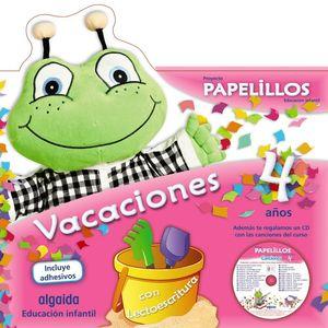 CUADERNO DE VACACIONES PAPELILLOS 4 AÑOS