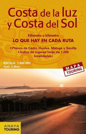 MAPA DE CARRETERAS DE LA COSTA DE LA LUZ Y COSTA DEL SOL (DESPLEGABLE), ESCALA 1