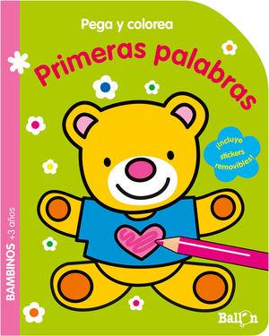 PEGA Y COLOREA - PRIMERAS PALABRAS
