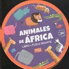 ANIMALES DE ÁFRICA.CAJA REDONDA